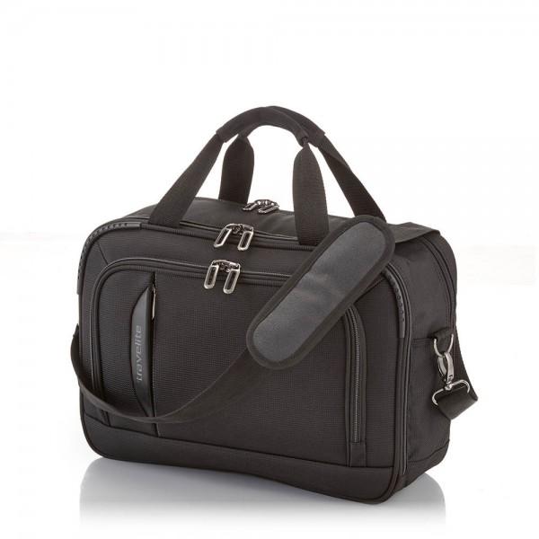 Travelite - Bordtasche 89504 gepolstert Schultergurt schwarz in schwarz