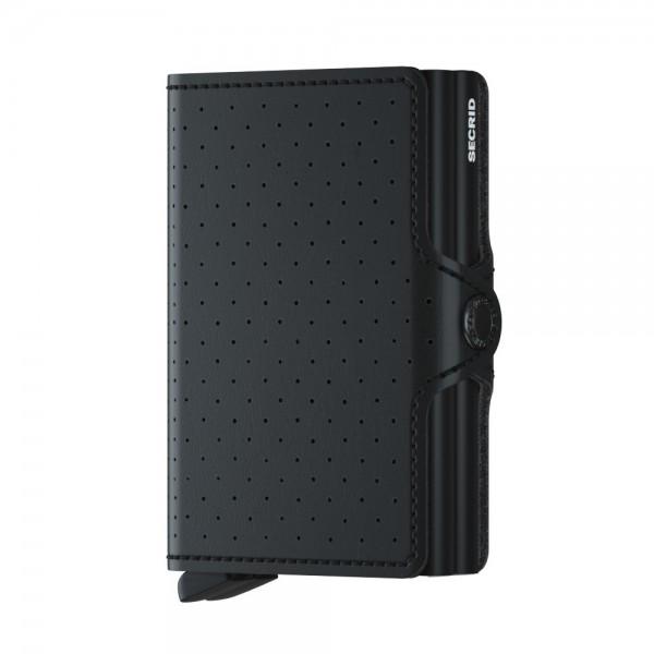SECRID - Twinwallet Perforated in schwarz