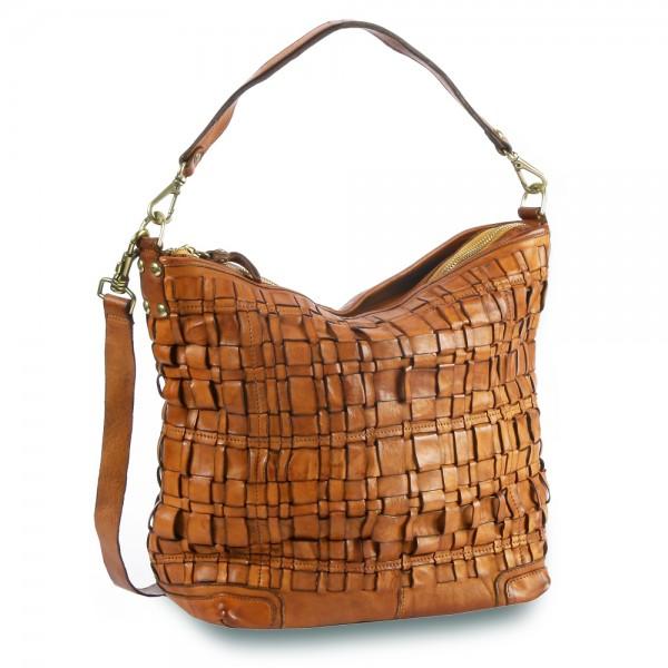 Campomaggi - Edera Shoulder Bag multi woven C021440ND-X1822 in braun