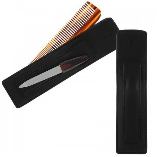 Esquire - Kamm- und Nagelfeilenetui 3090-10 in schwarz