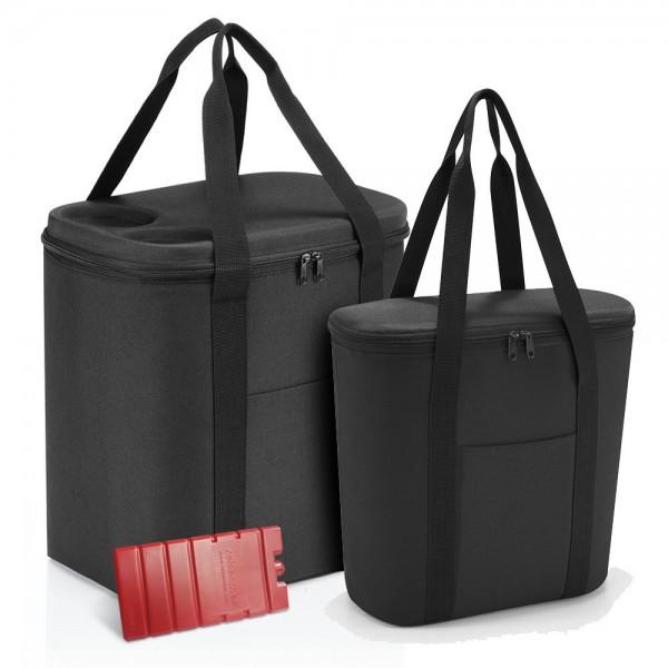 reisenthel - coolerbag XL + thermoshopper + Kühlakku LHOVEF in schwarz