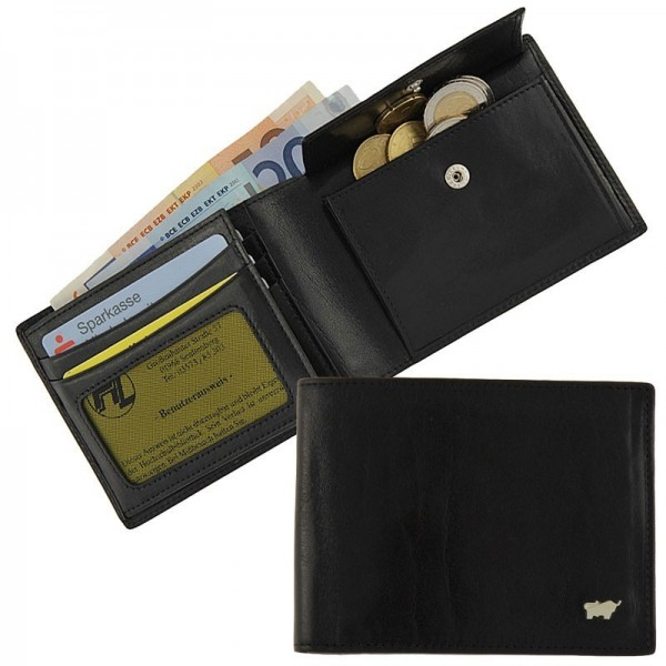 Braun Büffel - Portemonnaie 33111-004 in schwarz