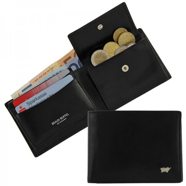 Braun Büffel - Männerbörse 33130-004 in schwarz