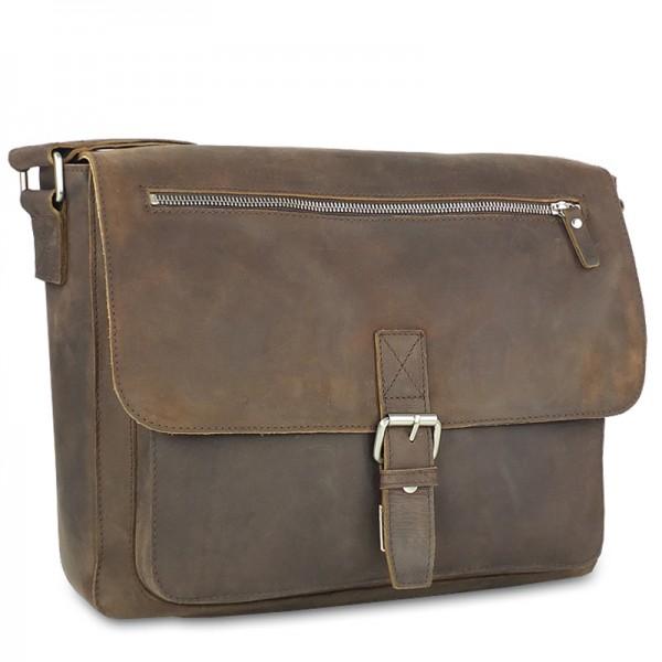 Leonhard Heyden - Salisbury Shoulder Bag M 7652 in braun